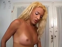Interracial shemales share blonde