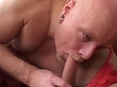 Nice shemale cums after double fuck