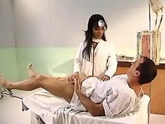 Hot asian shemale sucks in hospital