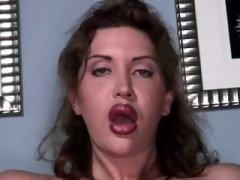 Hot tranny swallows guys big sword